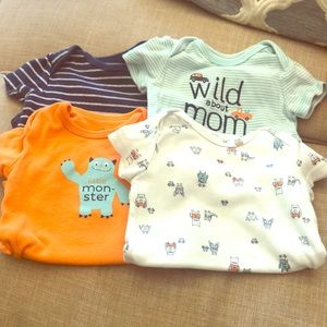 Pack of 4 onesies 3 months! Gently used